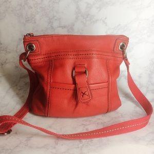 The Sak Kendra Red Leather Crossbody Bag